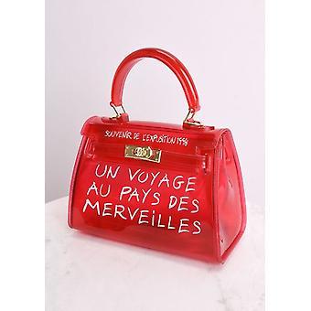 Klar fransk Tygkasse röd