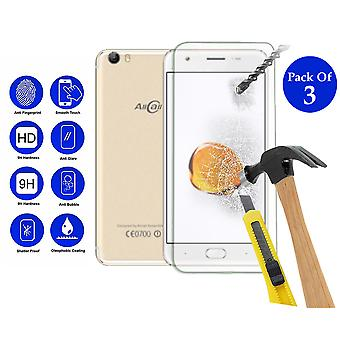 Pack of 3 Tempered Glass Screen Protection For All Call T9 Pro 5.5