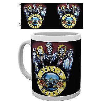 Guns N Roses Skeletons Ceramic Coffee Mug (ge)
