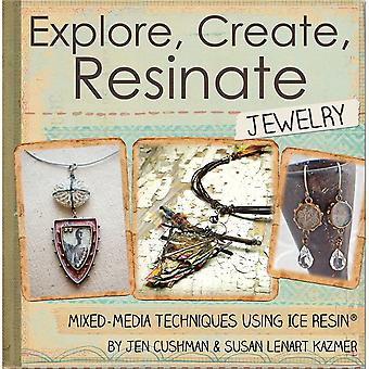 Ice Resin Mixed Media Technique Book-Explore, Create, Resinate Jewelry IRA49982