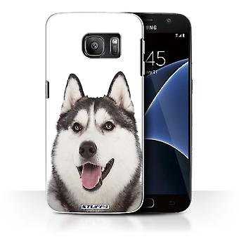 STUFF4 Case/Cover for Samsung Galaxy S7/G930/Husky/Dog Breeds