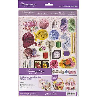 Hunkydory pour son A4 luxe A-Collage-carte carte Set-Knit One, Purl One & Greenfingers HER113