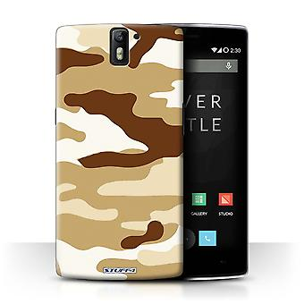 STUFF4 Case/Cover voor OnePlus One/bruin 2/Camouflage Army Navy