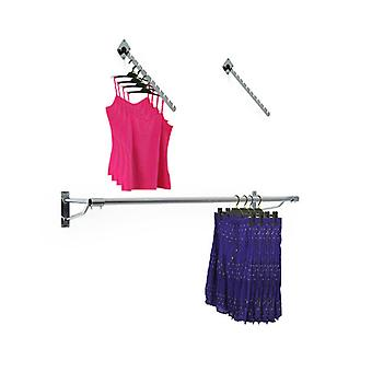 Europa Wall Mounted Clothes Rails - 2 Sloped Arm Rails