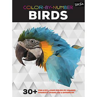Walter Foster Creative Books-Color By Number - Birds WFC-22021