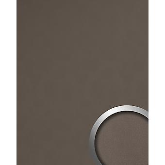 Decorative Panel leather optics WallFace 19024 DOVE TALE wall panel smooth nappa leather optics matt self-adhesive Brown grey-beige 2,6 m2