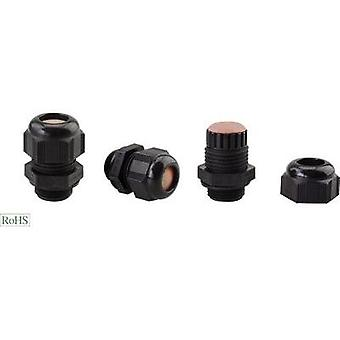 Cable gland ATEX M20 Polyamide Black Helukabel HT-PA-EX 906691 1 pc(s)