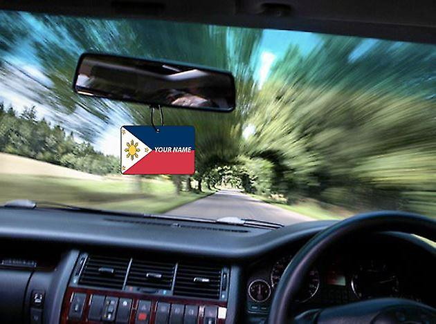 Philippines Flag Personalised Car Air Freshener