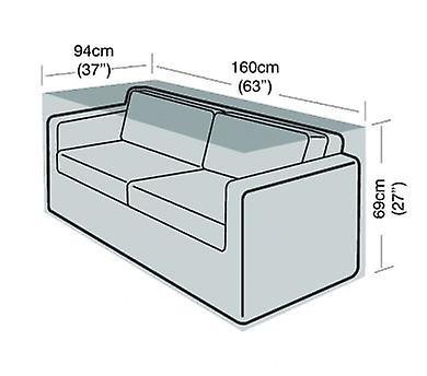 2 Sitzer Große Sofa-Abdeckung Möbel Polyethylen Grün
