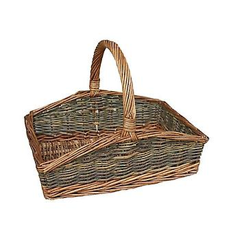 Large Rectangular Country Unpeeled Garden Trugs