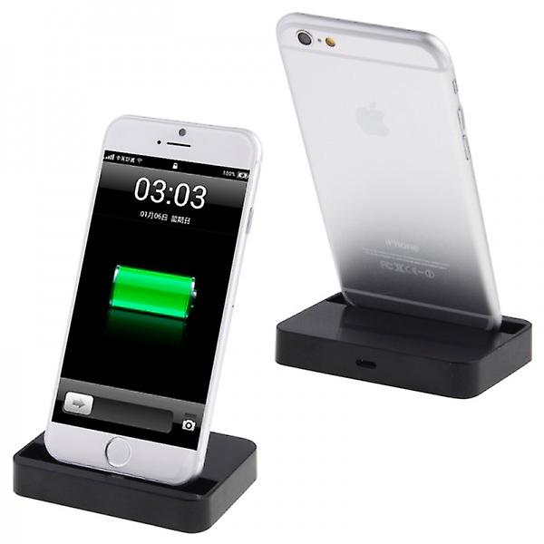 Docking Station for Apple iPhone 6 4.7 6 5.5 Plus Desktop Charger Black
