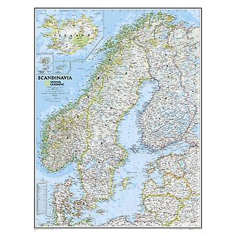 Scandinavia Classic tubed Wall Maps Countries & Regions: NG.P622072 (Reference - Countries & Regions) (Map) by National Geographic Maps
