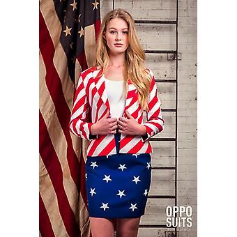 Miss USA America ladies costume Opposuit Slimline 2 premium EU SIZES