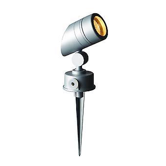 LED Robus kork GU10 Silver / grå trädgård Spike ljus