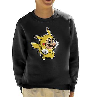 Pika Suit Super Mario Pikachu Pokemon børne Sweatshirt
