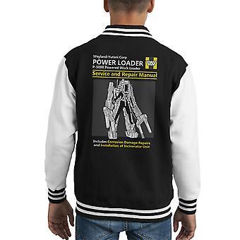 Ausländer Power Loader Service und Reparatur manuelle Kid Varsity Jacket