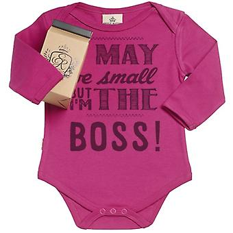 Spoilt Rotten I'm The Boss Organic Babygrow In Gift Milk Carton
