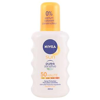 Nivea Sun Pure&Sensitive Spf50 Spray 200 Ml (Niños , Cosmética , Body lotions)