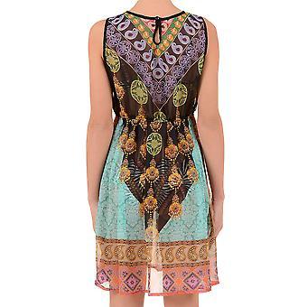 Iconique IC7-102 Women's Black Paisley Beach Dress