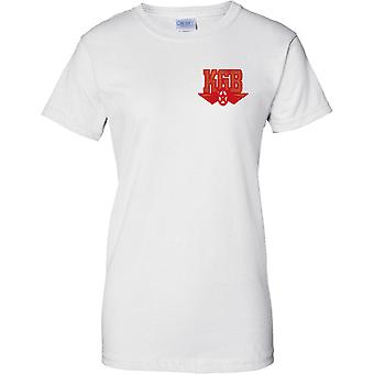 KGB - Russian Cold War Spy Agency - Security Soviet Union - Ladies Chest Design T-Shirt