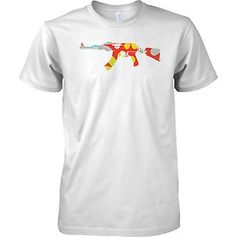 AK47 Floral Design - Peace - Mens T Shirt