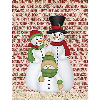 Carolines Treasures  SB3116GF Snowman Family Snowpeople Flag Garden Size