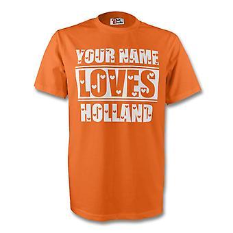 Your Name Loves Holland T-shirt (orange) - Kids