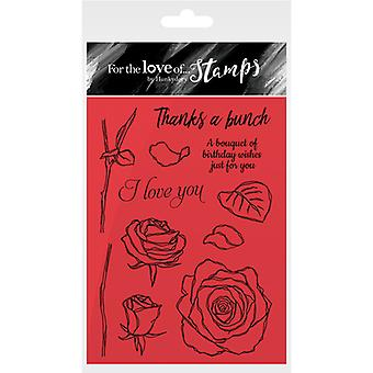 Hunkydory For The Love Of Stamps A6-Rose Bouquet FTLS168
