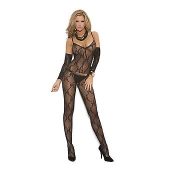 Elegant Moments EM-1604 Bow Tie Bodystocking also in plus size