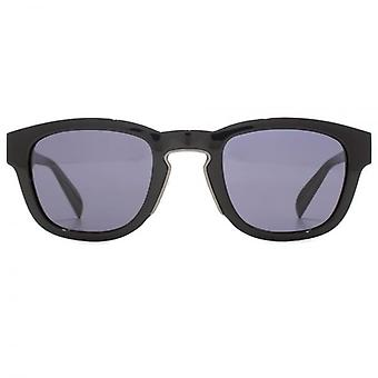 Alexander McQueen Edge Keyhole Square Sunglasses In Black