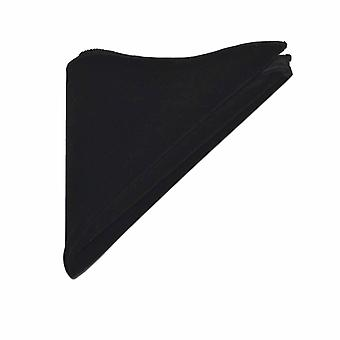 Luxury Black Velvet Pocket Square, Handkerchief