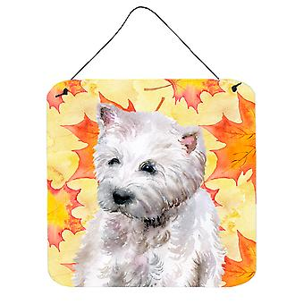 Carolines Treasures  BB9962DS66 Westie Fall Wall or Door Hanging Prints