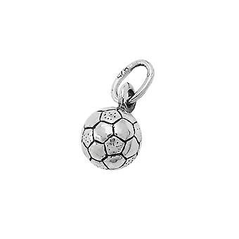 Football oxidised silver 925 pendant