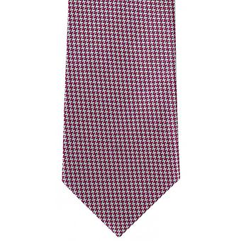 Michelsons of London Bright Puppytooth Polyester Tie - Pink