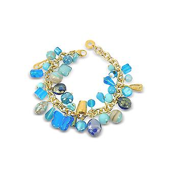 Antica Murrina ladies BR291A07 light blue metal bracelet