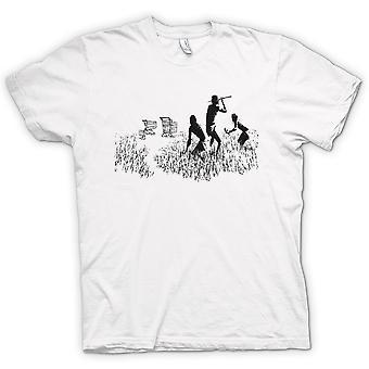 Mens T-shirt - Banksy Graffiti Art - Hunters