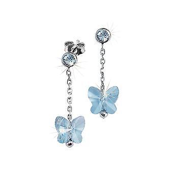 Scout los niños pendientes de plata chica azul de la mariposa 262164100