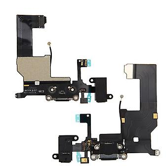 Apple iPhone 5S Flex cable dock connector charge Jack Black / White