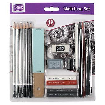 Derwent Academy 19 Piece Sketching Set