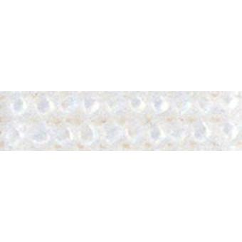 Mill Hill Frosted Glass Seed Beads 2.5mm 4.25g-Crystal