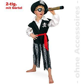 Kapitän Kinder Kostüm Pirat Seeräuber Freibeuter Kinderkostüm