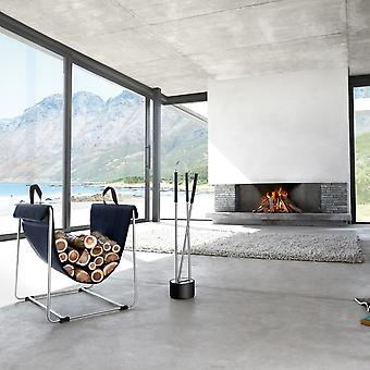 Blomus 3-piece fireplace set CANNETO, stainless steel matt
