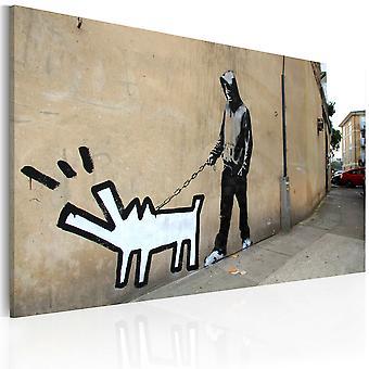Duk Print - skällande hund (Banksy)