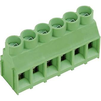 PTR AKZ840/6-6.35-V Screw terminal 4.00 mm² Number of pins 6 Green 1 pc(s)