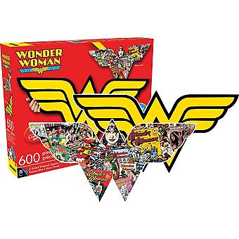 Wonder Woman Shaped 600 Piece Double Sided Jigsaw Puzzle 840Mm X 360Mm