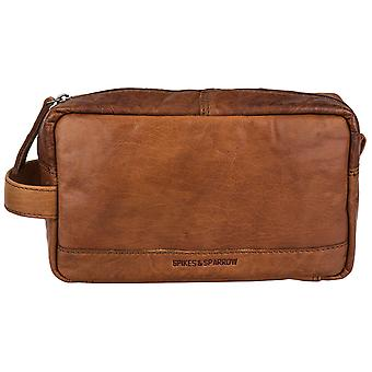 Spikes & Sparrow Bronco toiletry bag leather bag SP-1025-BR