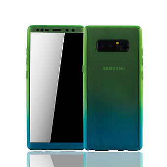 Samsung Galaxy touch 8 Mobile Shell Schutzcase full 360 display skydd skyddsplasten grön / blå