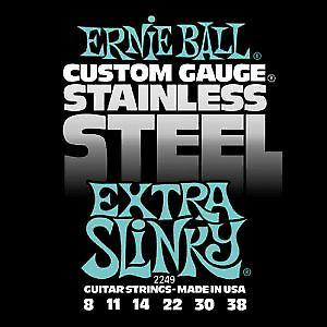 Ernie Ball Steel Slinky Electric Strings Ernie Ball String Gauge-Extra