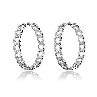 Orphelia Silber 925 Hoop Ohrringe mit ovalen und Zirkonium - ZO-7449