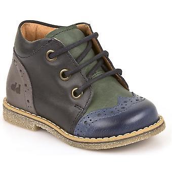 Froddo chicos G2130150 encaje botas azul verde